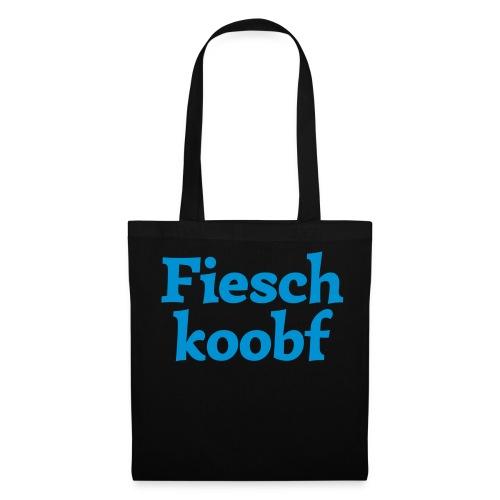Stofftasche Fischkoobf - Stoffbeutel