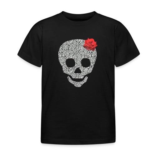 Skull and rose - Kids' T-Shirt