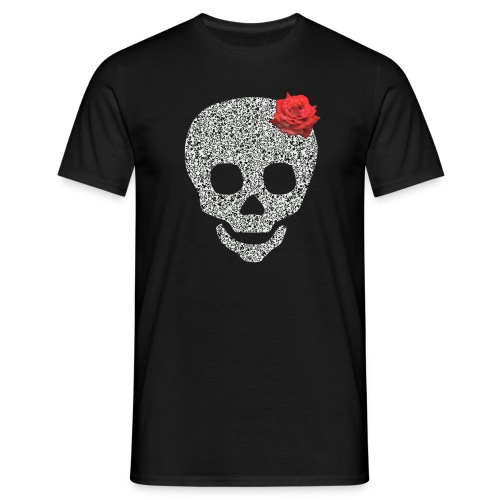 Skull and rose - Men's T-Shirt