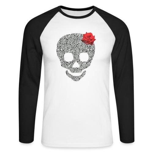 Skull and rose - Men's Long Sleeve Baseball T-Shirt