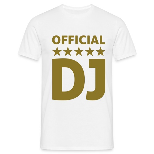'Official DJ' T-shirt - Men's T-Shirt