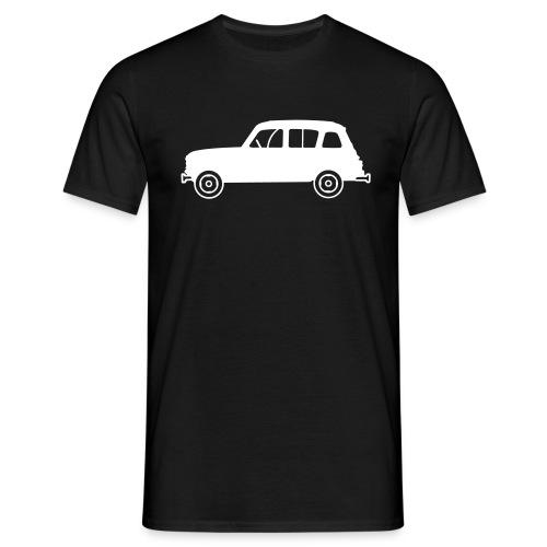 Renault 4L blanche profil - T-shirt Homme