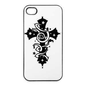 Phone Cross noire - Coque rigide iPhone 4/4s