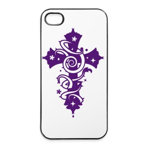 Phone Cross violet - Coque rigide iPhone 4/4s