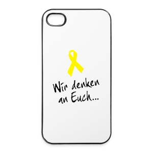 Iphone-Schutz Gelbe Schleife - iPhone 4/4s Hard Case