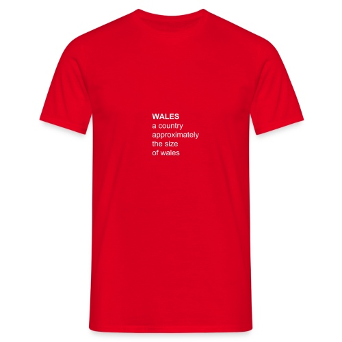 statemental wales red T - Men's T-Shirt