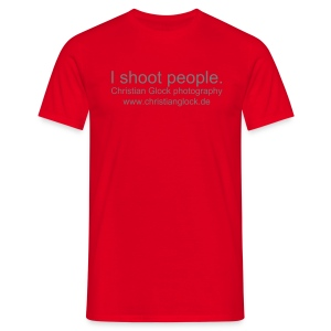 I shoot people. - Männer T-Shirt