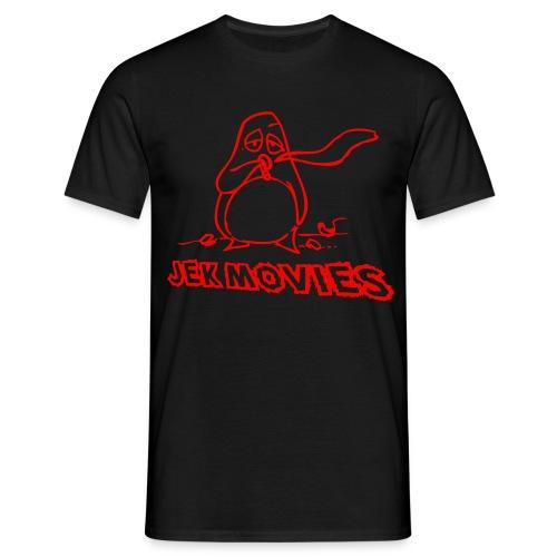 Pinguin JekMovies Rot - Männer T-Shirt