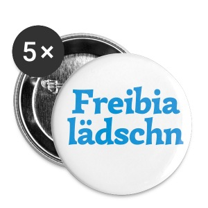 Button 56mm Freibialädschn - Buttons groß 56 mm