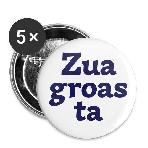 Button 56mm Zuagroasta - Buttons groß 56 mm (5er Pack)