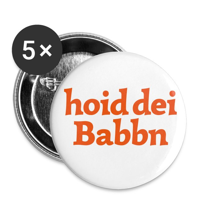 Button 56mm hoid dei Babbn