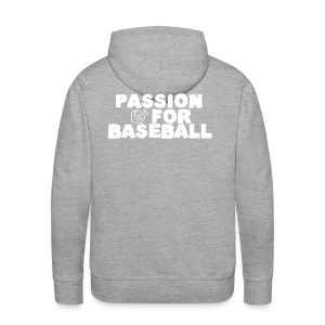 Sweat Passion for baseball verso - Sweat-shirt à capuche Premium pour hommes