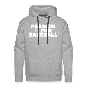 Sweat Passion for baseball recto - Sweat-shirt à capuche Premium pour hommes