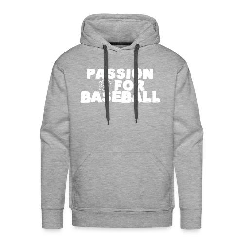 Sweat Passion for baseball recto - Sweat-shirt à capuche Premium pour hommes