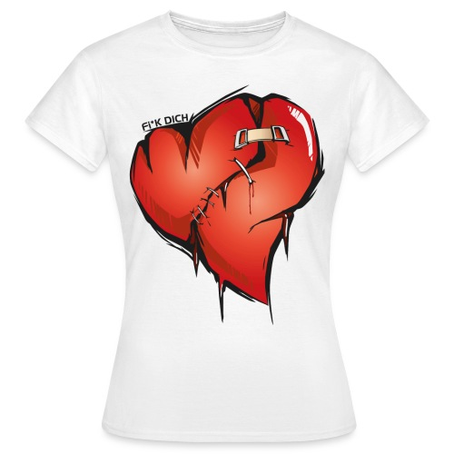 Frauen T-Shirt - GIRLY WHITE SHIRT   LOGO - DIGITALDRUCK
