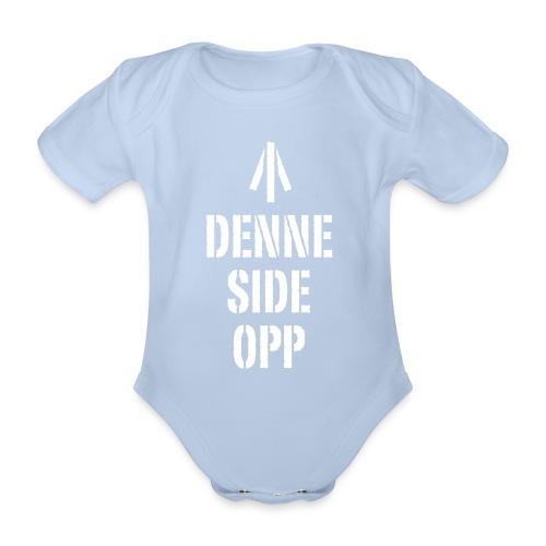 Denne side opp - Økologisk kortermet baby-body