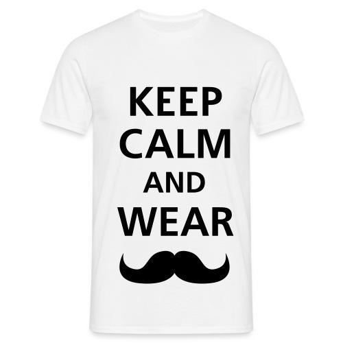 Keep calm and wear mustach  - T-skjorte for menn