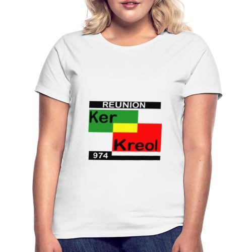 Tee shirt classique Femme 974 Ker Kreol carr Rasta  - T-shirt Femme