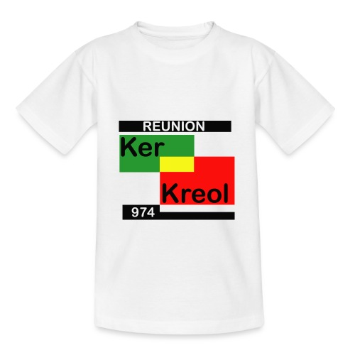 Tee shirt classique Enfant 974 Ker Kreol carr Rasta - T-shirt Enfant