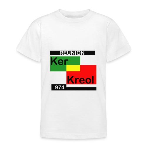 Tee shirt classique Ado 974 Ker Kreol carr Rasta - T-shirt Ado