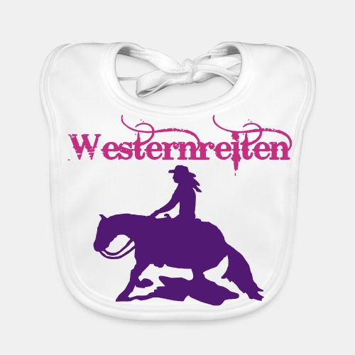 Westernreiten Babylätzchen Westernreiter - Baby Bio-Lätzchen