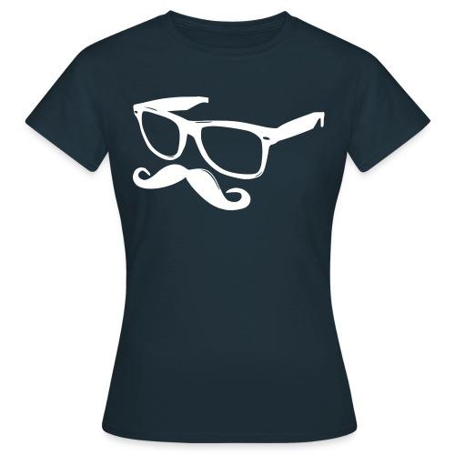 'Tee-shirt Moustasche & Lunettes' - T-shirt Femme