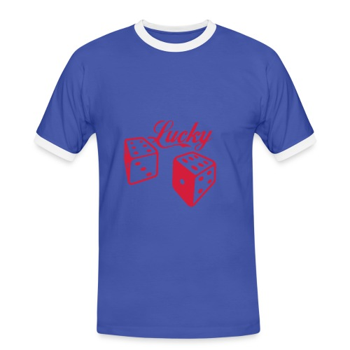 mens power lucky T-shirt - Men's Ringer Shirt