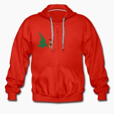 reindeer & christmas tree Hoodies & Sweatshirts