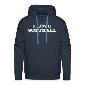Sweat I love softball - Sweat-shirt à capuche Premium pour hommes