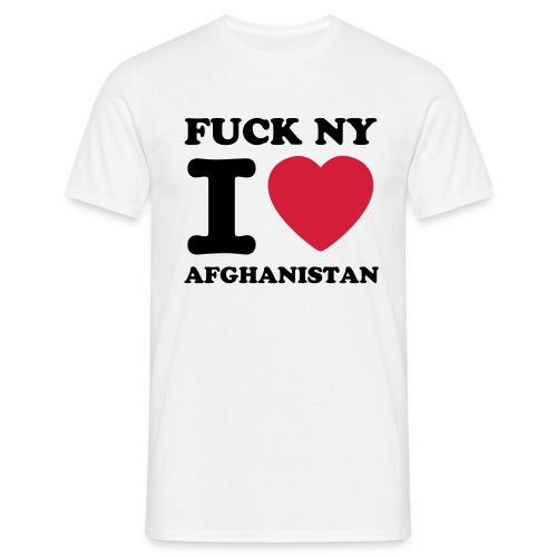 FUCK NY I LOVE AFGHANISTAN T-SHIRT (MAN) - Mannen T-shirt