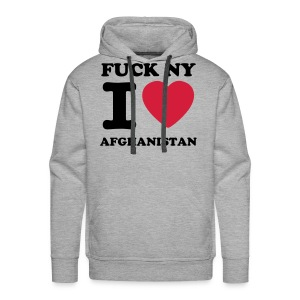 FUCK NY I LOVE AFGHANISTAN SWEATER - Mannen Premium hoodie