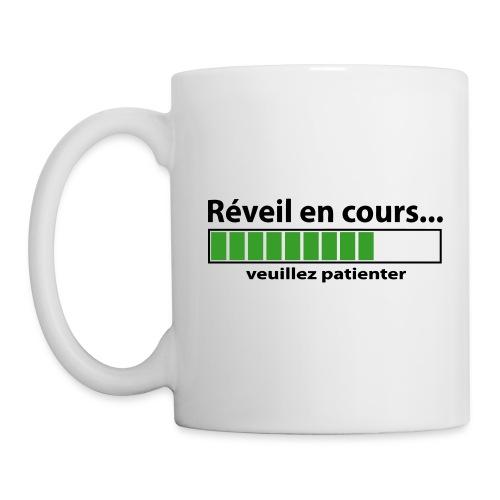 Tasse Droitier - Réveil en cours - Mug blanc