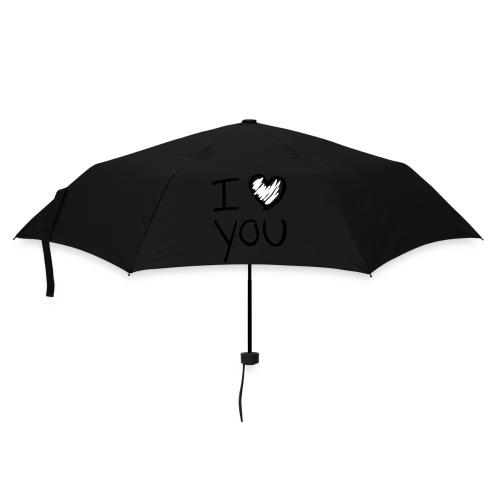Parapluie Lilas Classique I Love You - Parapluie standard