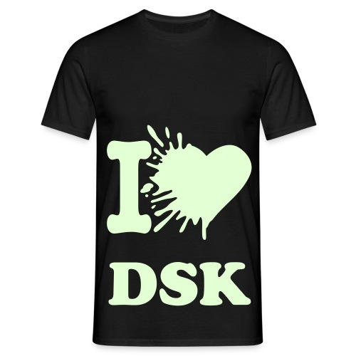 Glowing Splatted I Love DSK W/W - Shirt Kids - Männer T-Shirt