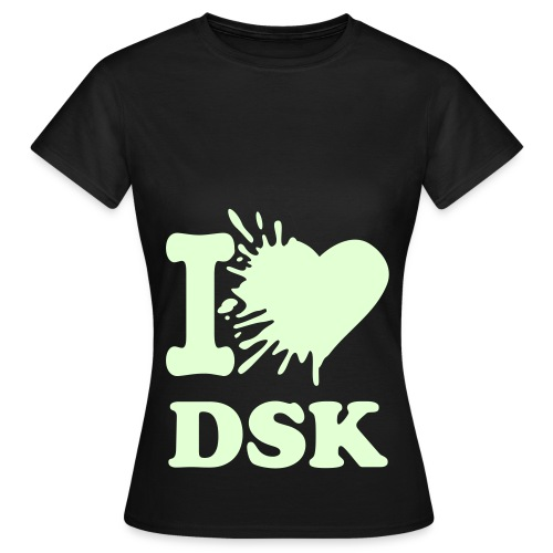 Glowing Splatted I Love DSK W/W - Shirt Female - Frauen T-Shirt