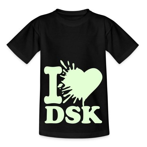 Glowing Splatted I Love DSK W/W - Shirt Male - Kinder T-Shirt