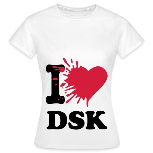 Splatted I Love DSK B/R - Shirt Female - Frauen T-Shirt