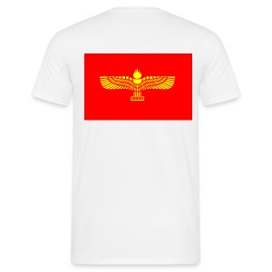 T-Shirt With Aramean flag on the back - Mannen T-shirt