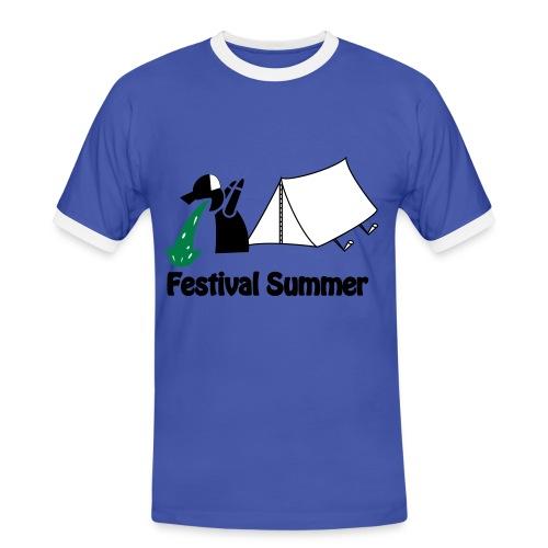 Festival Summer - Männer Kontrast-T-Shirt
