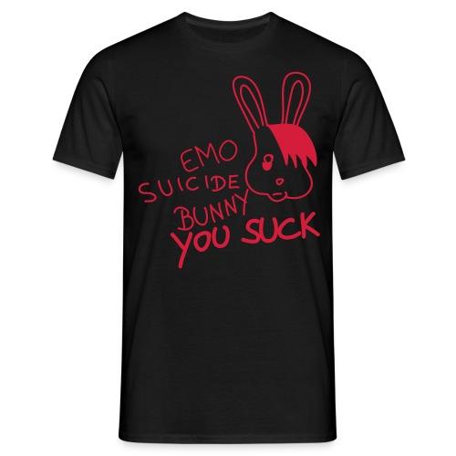 Suicide Bunny Sucks - rot schwarz shirt - Männer T-Shirt
