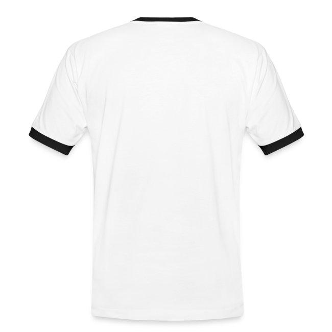 T-shirt bianca bordi neri