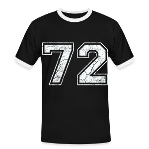 72 in in het wit Used Look T-shirts - Mannen contrastshirt