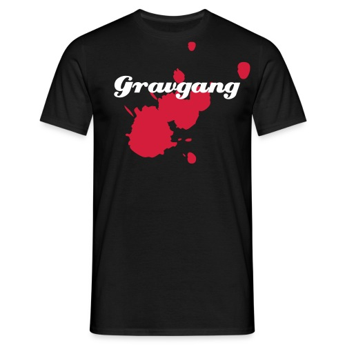 Gravgang t-shirt with blood - Men's T-Shirt