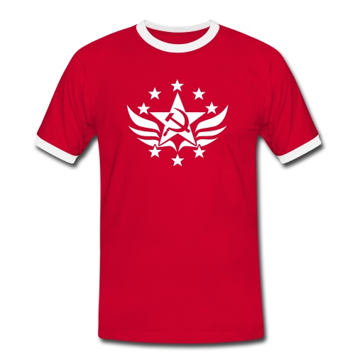 Soviet Emblem Contrast Tee (click for more colors) - Men's Ringer Shirt