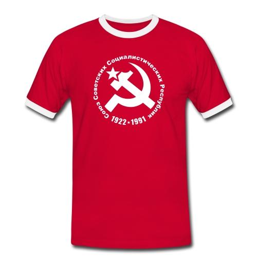 Soviet 1922-1991 Contrast Tee (click for more colors) - Men's Ringer Shirt