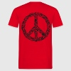 Peace sign made of guns, black - Men's T-Shirt