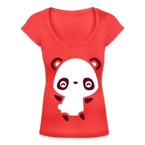 Panda Girl - Women's Scoop Neck T-Shirt