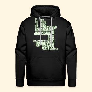 Männer Kapuzenpulli - Sackpfeifen Textwolke - nachtleuchtend - Männer Premium Hoodie