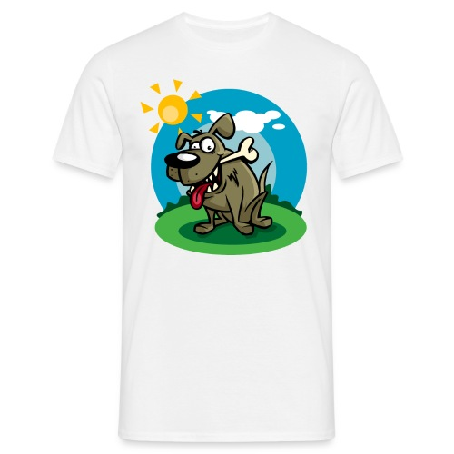 Dog with bone - Men's T-Shirt