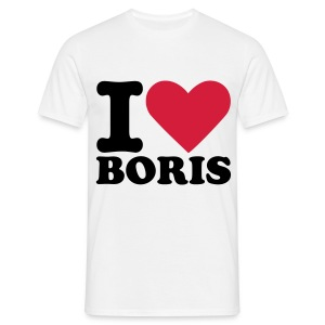heart boris (M) - Men's T-Shirt